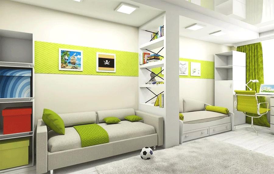 Детская комната, мебель которой исполнена в дизайнерском стиле