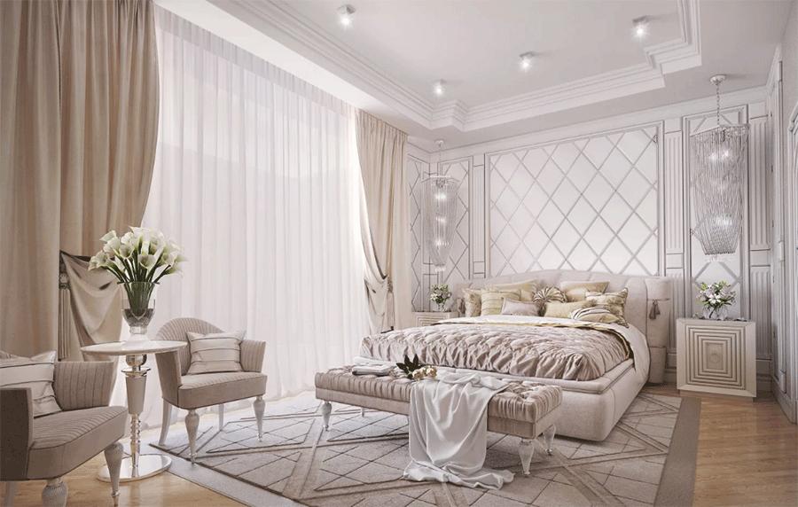 В результате получится спальня Москва